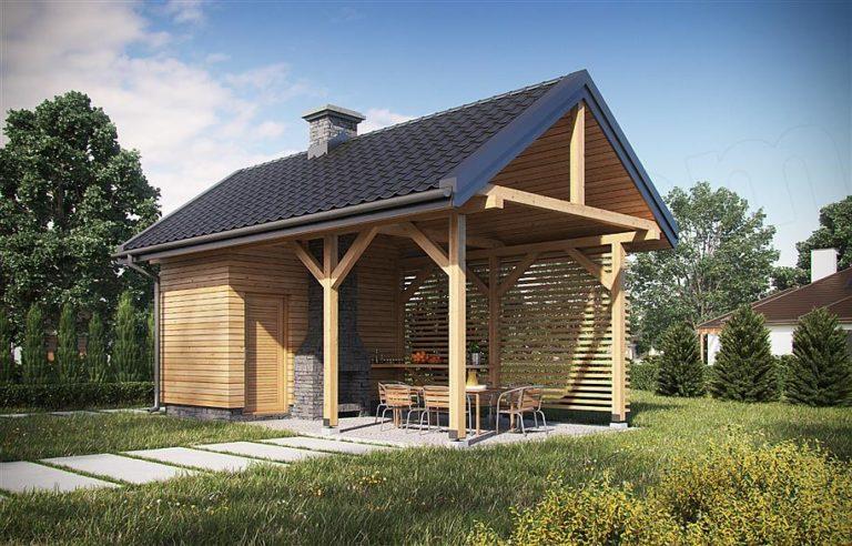 Gartenlaube – gemauert oder aus Holz?