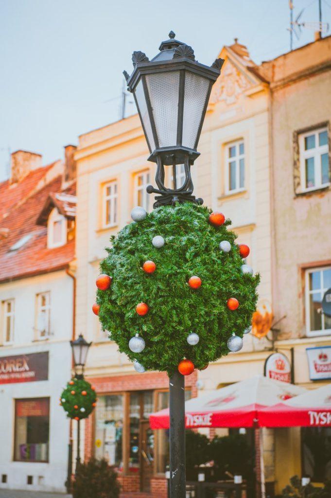Weihnachtsüberzüge für Straßenlaternen