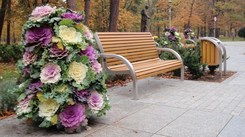 Blumentürme im herbstlichen Gewand