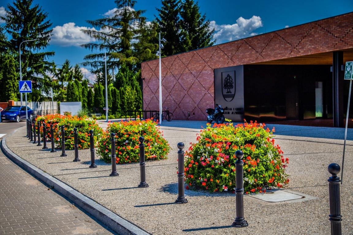 Wie kann man die Umgebung des Rathausgebäudes bepflanzen?