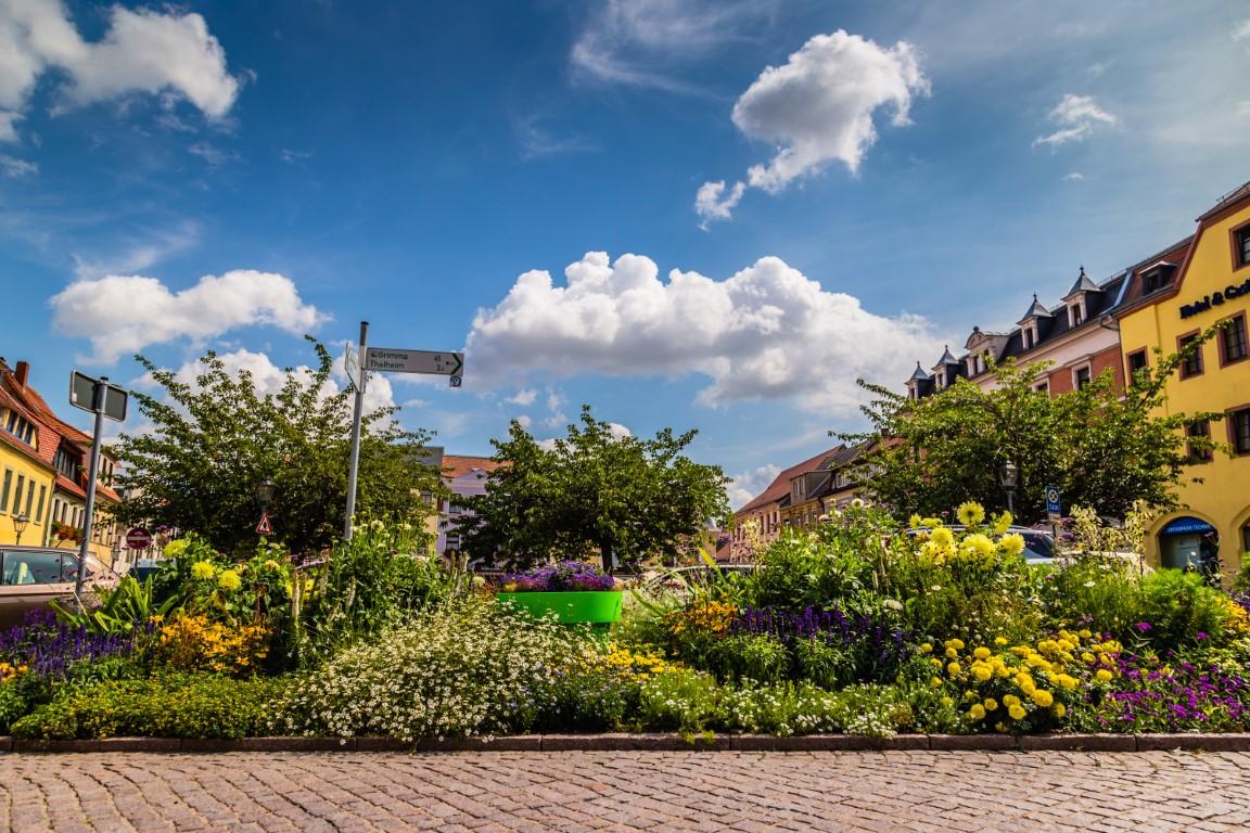 Eine-ungewöhnliche-Grünanlage-großen-Blumentöpfe-große-Blumentöpfe-oschatz